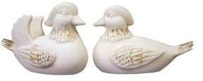 Mandarin Ducks_Ivory Large